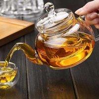 Coffee chá sets 1 pc prático resistente garrafa de vidro pote de vidro com folhas de infusor herbal 400ml WPSL grátis