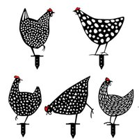 Chicken Yard Art Garden Decorations Statues Backyard Lawn Stakes Acrylic Hen Yards Decor Gift Gardens Decoration Outdoor Ornaments DHD6393