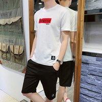 Tracksuit T-shirt da uomo T-shirt Trend Vestiti Summer Suit Mezza manica Base Cappotto