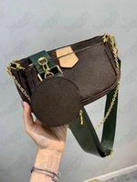متعددة pochette accessoires إمرأة مصمم حقيبة الهجين عبر الجسم 3 قطعة / مجموعات مصغرة حقيبة يد جولة عملة محفظة محفظة M44840 M44813