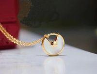 Мода Классические кулонные дамы Стерлинговое серебро Круглый Ожерелье Ювелирные Изделия с Изысканной Подарочной коробкой Упаковка