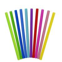 الغذاء الملون الصف مرن سيليكون القش مستقيم عازمة منحنية القش شرب أدوات شريط قابلة لإعادة الاستخدام المشروبات ccf6361