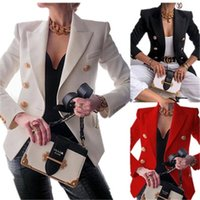 Womens Suits Blazers New Solid Color Fashion Sexy Multi Buttons Summer And Autumn Casual Suit Office Wear Elegant Short Coat