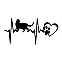 17 * 8.4 cm Kedi Darbe Pençe Kalp Araba Sticker Vinil Sticker Aşk 4x4 Popüler Sevimli ve İlginç Moda Sticker Çıkartmaları