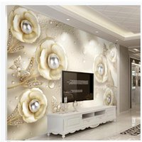 Wallpapers Po Wall Murals 3d WallpaperJewelry Rose Three-dimensional Relief Modern Minimalist Jewelry Background