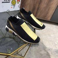 2021 하이 엔드 브랜드 디자이너 패션 양말 스니커즈 편지 디자인 낮은 컷 남자와 여성의 캐주얼 신발 크기 35-46
