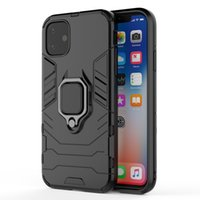 Creative new Panther military fall proof Apple XR se2 magnetic ring holder for iphone12 mobile phone case