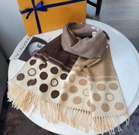 Designer invernale donna sciarpa di seta autunno sciarpe in lana di lana fahsion lettere avvolgere scialle scialle unisex taglia 180 * 65 altamente di qualità 6 colori con scatola