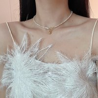 Design Sense OT Button Baroque Millet Fresh Water Pearl Necklace Ins Net Rode Kwaliteit Neck Chain Bone 76du514