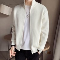 Men's Sweaters Winter Clothes Coat Men Ruffian Handsome Knitted Jacket Spring And Autumn 2021 Korean Fashion Stand Collar Sweater