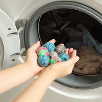 Nylon Lavandería Productos Bola Hogar Anti-Enredado Lavadora Herramientas Depilación Lavandería Limpieza Ballst2i51890