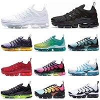 Nike air VaporMax TN Plus Running shoes ayakkabıları kadın erkek Üçlü Siyah Beyaz Pembe Rise REGENCY PURPLE LİMON KİREÇ Volt erkek eğitmen Spor Spor ayakkabılar 36-47