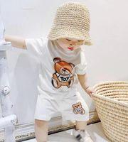 طفل الفتيات الصبي الملابس مجموعة الاطفال luxurys مصمم تي شيرت السراويل طفل الأطفال الصيف قمم السراويل