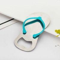 Kreative Strand Flip-Flop-Schuhe Formöffner Bier Flaschenöffner mit Geschenkbox Hochzeit Favor Geschenke OWE6208