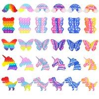 Tie-Die Rainbow Butterfly Cubs Bubs Reborn Dionosaur Космонавт Сенсорный Игрушка Аутизм Особое потребность Антистресс Возврат Fivet Toys Сюрприз Оптом