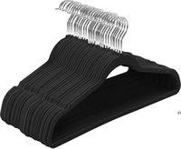 Samtaufhänger Anzug Kleiderbügel Rutschfeste Kleiderbügel 360 Grad Schwenkhaken Starker langlebiger Kleiderbügel für Mäntel Hosen Kleid Kleidung Seaway HWF9569