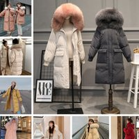 2020 Winter New Korean Women Designer Clothing Warm Long Sleeve Down jackets & Parkas Cotton-padded Clothes Mid-length Fur Collar