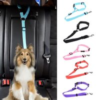 Cat Collars & Leads Pet Dog Car Seat Belts Durable Adjustable Short Harness Leash Travel Safety Traction Rope Outdoor For Acessories