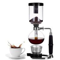 Coffee Pots Alta Qualidade Máquina Sifon Maker Set, incluir 2pcs Vidro Siphon Pot, 1 Pcs Alcohol Burner, Stand Bs