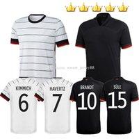 Almanya Futbol Forması 2021 Fanlar Oyuncu Sürüm 2020-21 Hummels Kroos Gnabry Werner Draxler Reus Muller Gotze Futbol Gömlek Üniforma Erkekler + Çocuk Seti