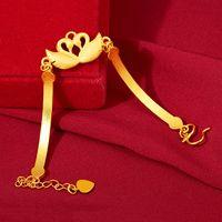 Glavial الذهب والمجوهرات إمرأة الأزياء الكورية نمط سخية بسيطة غريس شخصية النحاس الكهربائي سوان سوار مبيعات المصنع مباشرة