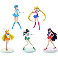 6 Stijlen мультфильм моряк луна действия фигурки Maan Power Anime Tsukino PVC Model Collecties Kid подарочные игрушки