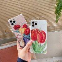 Tulip veneer phone cases for iPhone 12 11 pro promax X XS Max 7 8 Plus