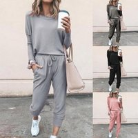 Running Sets Women Trasuits Sweatsuits Set 2021 Outfits Soft Loose Long Sleeve Workout Sports Suit 2pieces