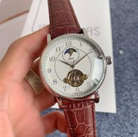 Mens automatic tourbillon mechanica waterproof clock moon watch