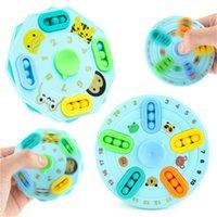 Ejemplos de la dedo DiscomPresión Toy Strange Magic Bean Top Placa de bolas giratorias de doble cara Rubik Cubo Juguetes educativos
