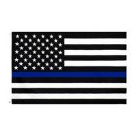 3x5ft 90cmx150cm Law Forment Officers Stati Uniti American Police Sottile linea Blag Bandiera Blueline USA Bandiere della polizia CYZ3096