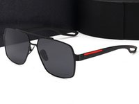 Hohe Qualität Retro Polarisierte Sonnenbrille Mann Frau Metall Großer quadratischer Rahmendesigner Geeignet für Mode, Strand, Fahren. UV400 Oculos de Sol Masculino Gafas mit Fall