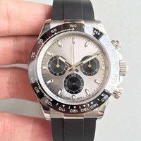 U1 заводские качественные часы ST9 Steel Все субдиалы Работа 116519 116500 40 мм Автомата 3866 Механическое движение Sapphire Стеклянная мужская керамическая бешель серый циферблат часы