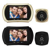 Doorbells Digital Peephole Viewer Doorbell 3.5 Inch Screen Night Vision PIR Motion Detection Electronic Door Eye Camera Bell