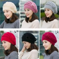 New warm mother women's thick hat Beanie Skull Caps DMZM034 fashion Knitted woolen autumn and winter rabbit fur hats