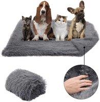 طويل أفخم كلب بطانية المحمولة مزدوجة سمك مربع سرير لينة رقيقة حصيرة للكلاب 210716
