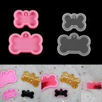 2 Sizes DIY Dog Tag Bone Shaped Keychain Casting Silicone Mould Crafts Key Chain Pendant Making Tools Crystal Epoxy Resin Mold