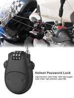 Motorcycle Helmets Mini Helmet Password Lock With Wire Steel Cable Code Alloy Plastic Safe For Suitcase Car Sled