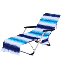 Krawatte Dye Beach Stuhlabdeckung mit Seitentasche Bunte Chaisel Lounge Handtuchabdeckungen für Sun Lounger Pool Sonnenbaden Garten OOD5811