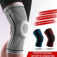 Outdoor Gadgets 1 Piece Silicone Full Knee Brace Strap Patella Medial Support Strong Meniscus Compression Protection Sport Pads Running Bask