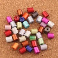 300 pz / lotto 8x10mm colorato illusione acrilico miracolo perline allentato perline distanziatore perline perline gioielli fai da te l1804 vendita calda lzsilver zhl2600