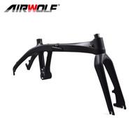 Airwolf 20inch Carbon Fiber Folding Bikes Frame Bicycle Frameset BSA Disc Brake Bike Frames Fork 2 years warranty