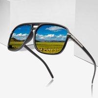 النظارات الشمسية 2021 أزياء الرجال بارد ساحة نمط التدرج الاستقطاب القيادة خمر العلامة التجارية تصميم رخيصة نظارات الشمس oculos دي سول