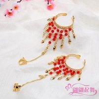 Индийские танцевальные характеристики и показать аксессуары Новый животный танец практика одежда GEM ожерелье головной цепь красный браслет из бисера