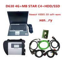 Автоматический диагностический инструмент MB STAR C4 SD Connect с новейшим V2021.03 SSD или HDD полный набор в D630 4G ноутбук готов к использованию для автомобилей MB Trucks Fast