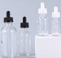 어린이 증거 모자 15ml 30ml 60ml 120ml 투명 유리 dropper 병 빈 화장품 에센셜 오일 포장 저장 상자
