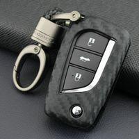 Для Toyota Yaris Rav4 Aygo Corolla Chr мягкий углеродное волокно автомобиль Case Case Cover Cover Cover