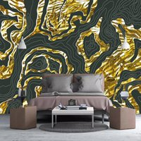 Custom Any Size 3D Mural Wallpaper For Bedroom Walls Golden Geometry Luxury Living Room Sofa TV Background Po Wall Paper Roll Wallpapers