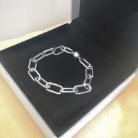 2021 Vrouwen Sieraden Ketting Link Armbanden 925 Sterling Zilver voor Pandora Charms Bracelet Lady Gift met originele doos