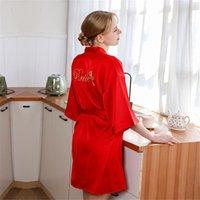 Свадебная невеста халат невесты ночная рубашка Rayon Hatrombe сексуальная ночная одежда мода шелковистая пижама кимоно Koszula NOCNA женские пижамы